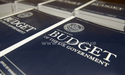 Copies of US President Barack Obama's Fiscal Year 2014 Budget wait to be distributed in Washington, DC, April 10, 2013/AFP