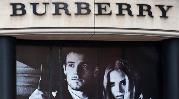 A Burberry shop in central London/AFP