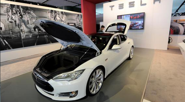 Tesla's new Model S sedan/AFP