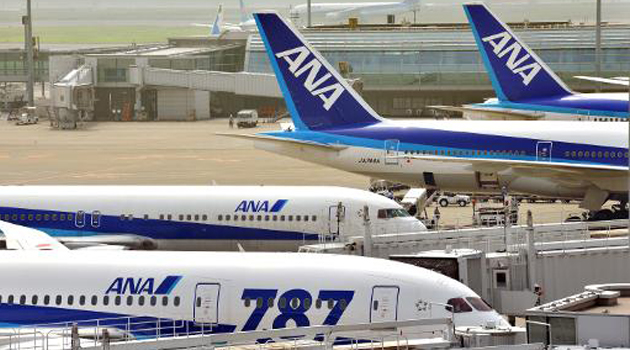The airline will buy 40 planes from Boeing, its major supplier that has had a virtual stranglehold in Japan for decades, and 30 from Airbus to increase its fleet ahead of the 2020 Tokyo Olympics, a statement said/FILE