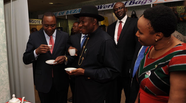 Both Presidents Goodluck Jonathan of Nigeria and President Uhuru Kenyatta will be chief guests at dinners organized by the Corporate Council/FILE