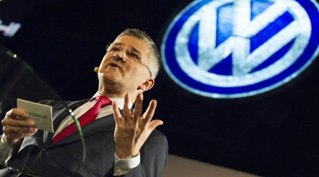 "Michael Horn, President and CEO of Volkswagen Group of America, has admitted he was made aware of ""a possible emissions non-compliance"" in early 2014/AFP"