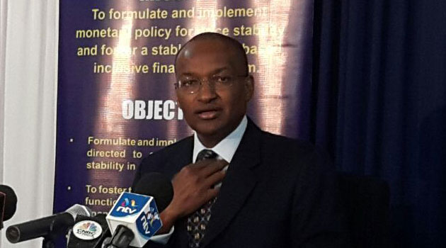 Central Bank Governor Patrick Njoroge, who is also the MPC Chairman says the move to lower CBR by 50 basis points was due to the concerns of declining private sector credit growth/FILE