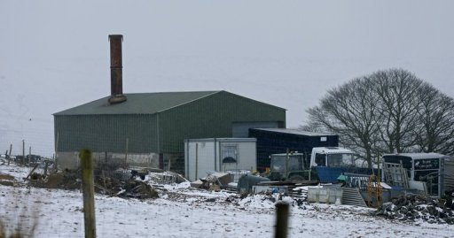 The Peter Boddy slaughterhouse in Todmorden, north-west England, February 13, 2013. Three men at meat plants in Britain suspected of passing horsemeat off as beef have been arrested on suspicion of fraud, police said on February 14, 2013.