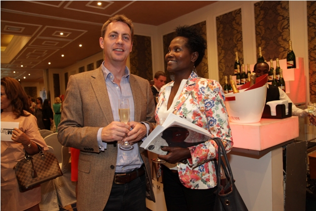 Andrew Gay of the British high Commision & Sally Ibeere an art lover