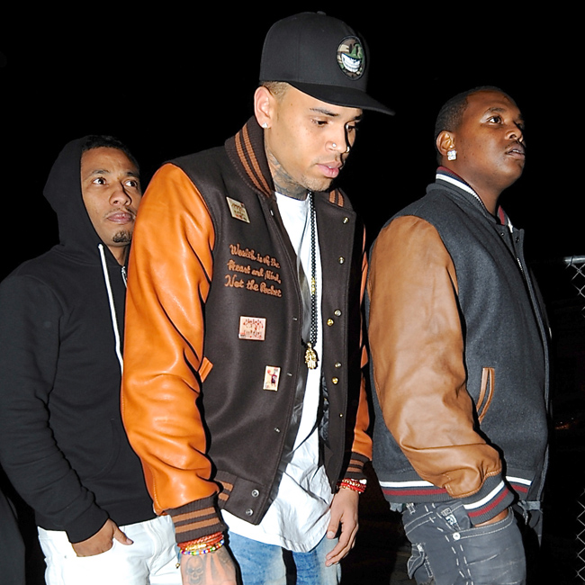 Chris Brown arrives at Supper Club in Hollywood