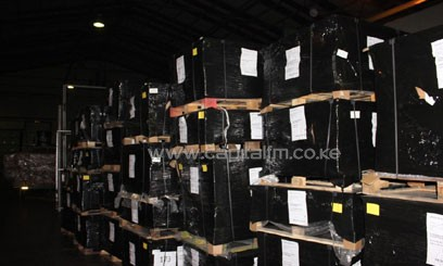Last Friday, the commission received 398 pallets for the presidential ballot papers/COURTESY