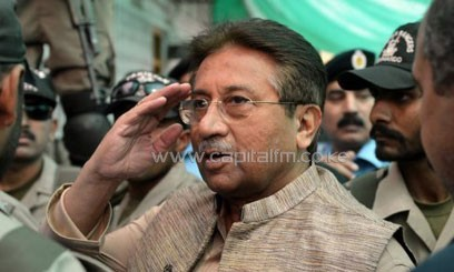 Musharraf is accused of conspiracy to murder Bhutto, who died in a gun and suicide attack in December 2007/AFP