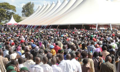Mutula Kilonzo's constituents came to pay him their last respects. Photo/ COURTESY