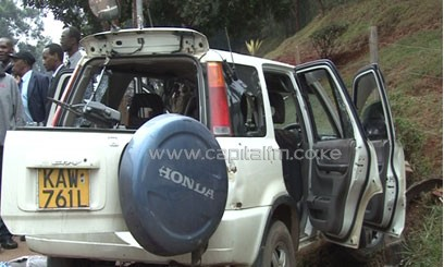 The suspects in a Sports Utility Vehicle were accosted near the KARI headquarters while allegedly headed for a robbery/MIKE KARIUKI