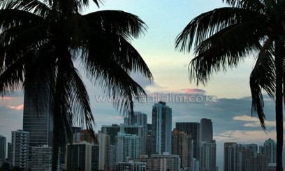 Miami skyline, pictured on August 6, 2010/AFP