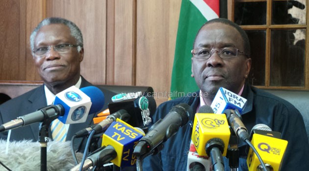 """""""There has emerged a pattern by political leaders and other Kenyans of intimidating judicial officers,"""" Mutunga said at a news conference on Sunday."""