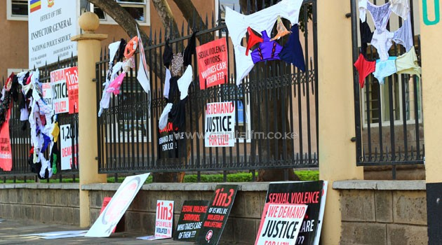 Activists staged an undergarments protest last year, demanding justice for the teenager. Photo/FILE