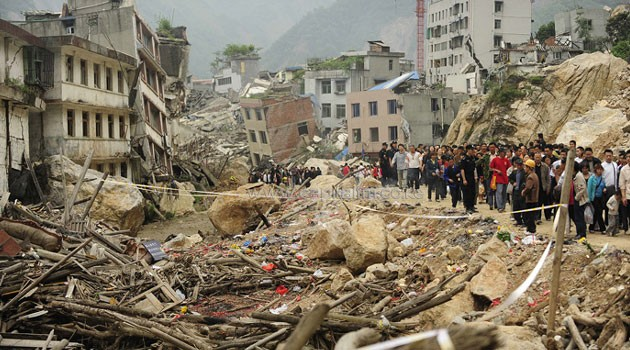 Remains of structures after the Sichuan earthquake/AFP FILE