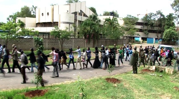 The police broke down classroom doors and in some instances beat up the students as they sought to quell the mass action which had turned into a cat and mouse game/FRANCIS MBATHA