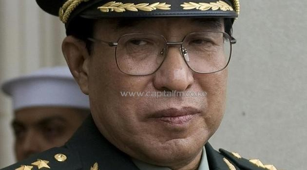 A file picture taken on October 27, 2009 shows Chinese General Xu Caihou -- a former vice-chairman of the Central Military Commission -- during a visit to the Pentagon in Washington, DC/AFP
