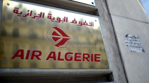 A photo taken on July 24, 2014 shows a plaque outside the Air Algerie airlines office in Paris/AFP