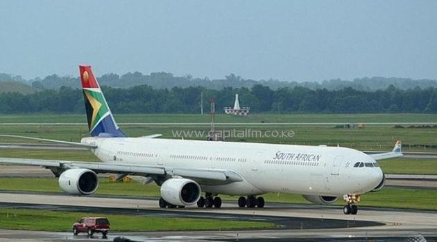 A file photo of a South African Airways A340/AFP