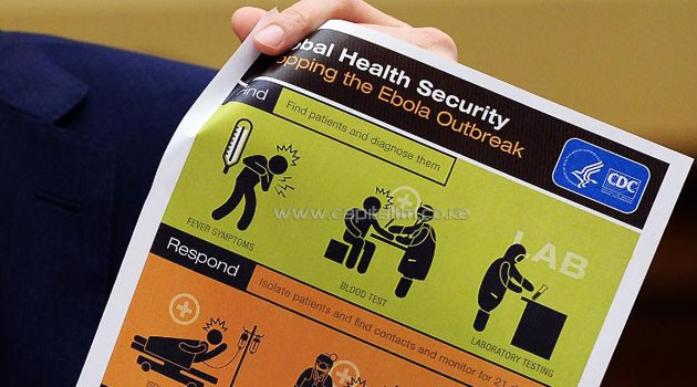 A poster showing health security/FILE