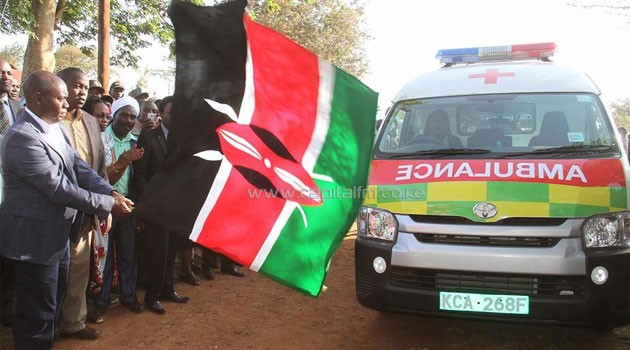 The ambulances worth Sh40 million were flagged off in Lusigetti, Kikuyu Town and will go a long way in improving and delivering the health services to Kiambu residents/CFM