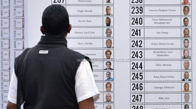 An election calender in Fiji/FILE