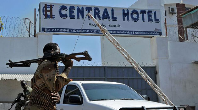 Two days later, while attending Friday prayers at the nearby Central Hotel, Arte was injured in a Shabaab suicide attack that killed at least 25 people/AFP