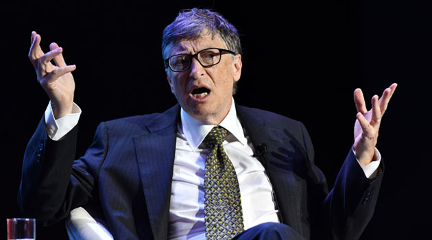 Bill Gates during an interview with the Xinhua News Agency on the sidelines of the 2015 Boao Forum for Asia in Hainan Province/XINHUA