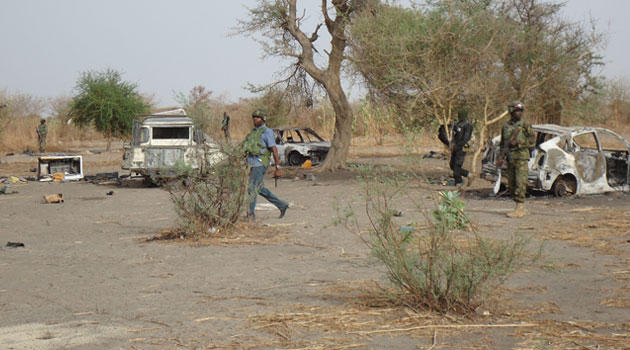 Boko Haram camp at Kirenowa in Borno State after it was over ran by government troops/XINHUA-File