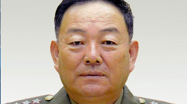North Korean Defense Minister Hyon Yong-Chol, pictured at the Mansudae Assembly Hall in Pyongyang, in 2014/FILE