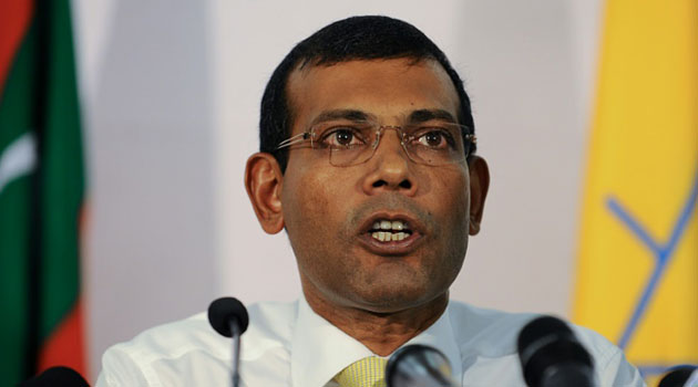 The Maldives' first democratically elected leader Mohamed Nasheed was jailed in March after being found guilty of terrorism charges/AFP