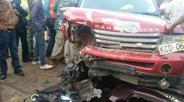 Inspector General of Police Joseph Boinnet said on his Twitter account Simon Maina Kuria was behind the wheel of the top of the range vehicle when the accident occurred/CFM NEWS