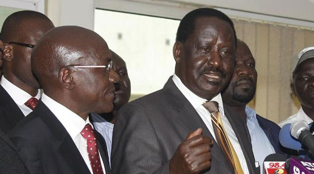Flanked by Coalition for Reform and Democracy (CORD) leaders Raila Odinga and Moses Wetangula, the legislators representing Awendo, Muhoroni, Mumias West and Homa Bay described as 'artificial' the sugar shortage/FILE