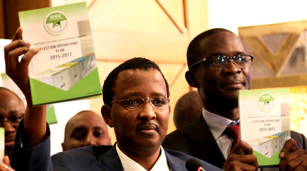 Speaking during the unveiling of the 2015-2017 Election Operations Plan, IEBC Chairman Issack Hassan said the certainty in the election date has made it possible for them to map out timelines to be met by the commission/MIKE KARIUKI