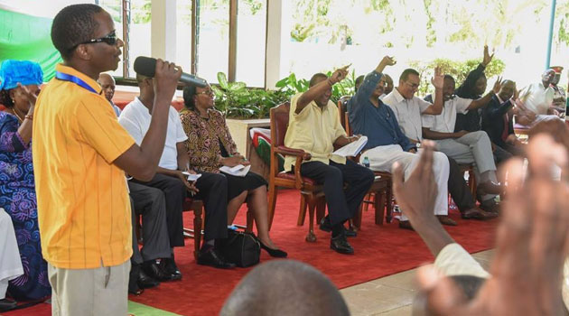 At the meeting, President Kenyatta urged the youth to work with the government in finding solutions to problems facing them and the country/PSCU
