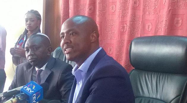 Keter who was accompanied by Kapseret MP Oscar Sudi demanded that MP Duale (Garissa Township) and Senator Murkomen (Elgeyo-Marakwet) resign their House leadership roles/LABAN WANAMBISI