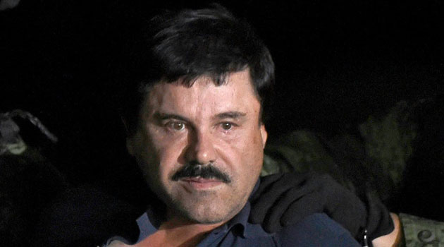 "Mexican drug kingpin Joaquin ""El Chapo"" Guzman was recaptured after a raid in Los Mochis, Sinaloa State, on January 8, 2016/AFP"