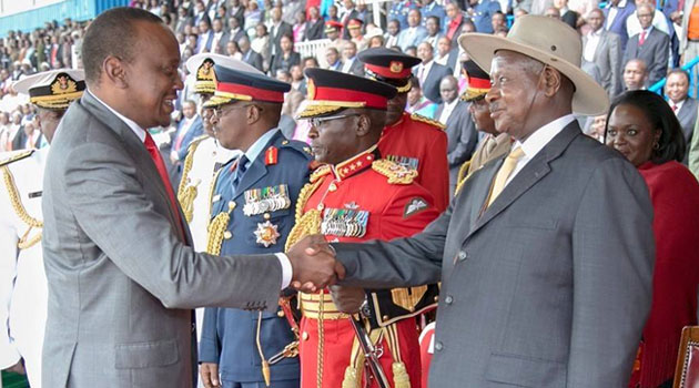 """The people of Uganda have spoken, and they have spoken very clearly,"" President Kenyatta said/FILE"