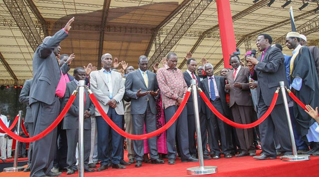 Ruto who was speaking at Afraha stadium in Nakuru during thanksgiving rally for the Ocampo Six whose charges were dropped by ICC judges said Kenyans must reject ethnicity and refuse to be divided in tribal lines/PSCU