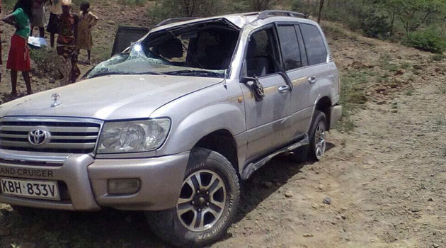 Baringo County Police Commander Peter Ndung'u told Capital FM News that her car rolled seven times after a tire burst killing the driver on the spot/COURTESY