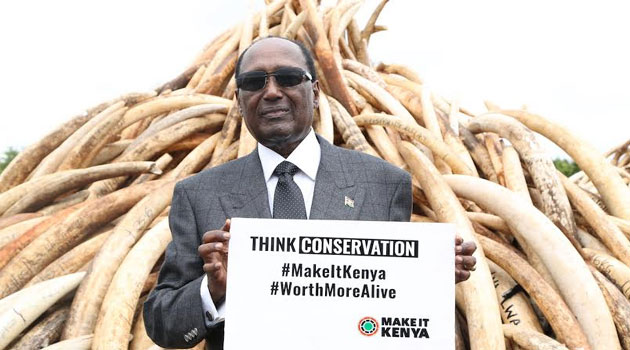 Omondi's sentiments were echoed by Brand Kenya Board Chairman Chris Kirubi who said the illegal trade of wildlife products will destroy the country's treasured heritage if not stopped/FRANCIS MBATHA