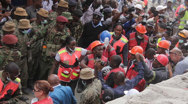 According to Nairobi Police Boss Japheth Koome, 140 people have so far been rescued and there were hopes of pulling more people out alive/MIKE KARIUKI