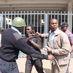 The protest was marred by cases of mugging by a section of opposition supporters targeting innocent members of the public. CFM/COLLINS MOPAO