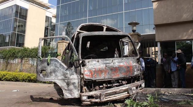 The CORD leaders had through their lawyers Antony Oluoch and Haroun Ndubi earlier stated that the petitioners had not produced any document to place any of the respondents as directly responsible for the burning of the vehicle/FILE
