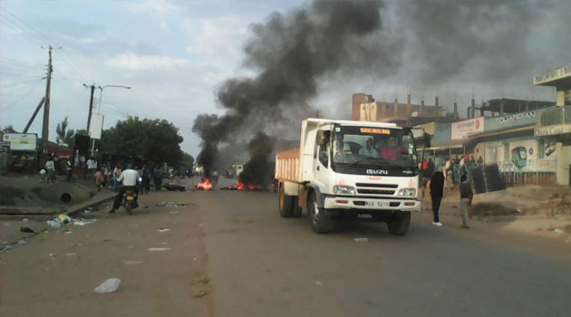 In the lakeside city of Kisumu businesses have been brought to a standstill with anti-IEBC protesters who lit bonfires in most roads leading into the city/CFM