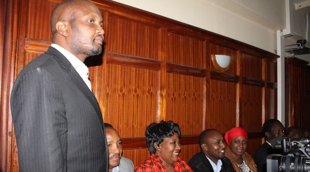 Gatundu South MP Moses Kuria and his Kabete counterpart Ferdinand Waititu will only get out of custody once they pay Sh5 million bond with a similar surety, or post cash bails of Sh2 million each/CFM NEWS
