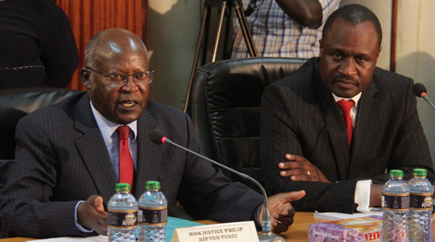 In a unanimous decision, the Tribunal found that it would be illegal for it to continue collecting evidence on the matter following the reinstatement of the Court of Appeal finding that Tunoi should have ceased being a judge two years ago/FILE