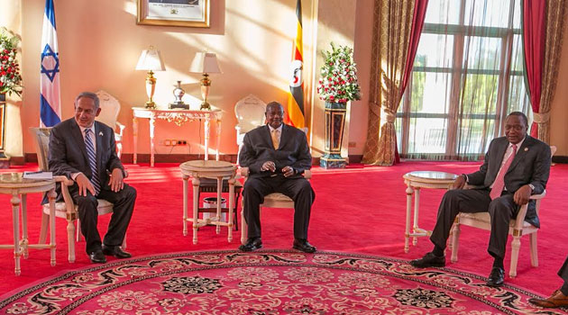 President Kenyatta travelled to Entebbe for the summit in the afternoon and flew back in the evening/PSCU