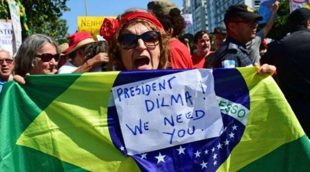Residents of Rio de Janeiro demonstrate against interim president Michel Temer/AFP