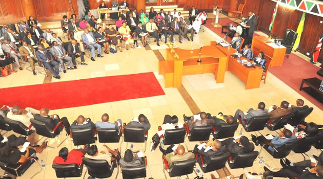 Speaker Alex ole Magelo had earlier stated that the process would go on despite a court order stopping it, but was forced to adjourn the assembly after CORD MCAs failed to show up for the session/FILE