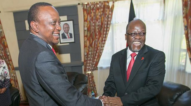 President Keyatta's administration has maintained that relations between the two countries remain cordial despite Kenyan officials being detained in Tanzania while on a fact fining mission/FILE